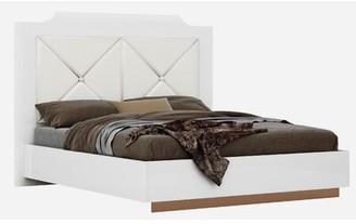 Orren Ellis Oram Everette Modern Upholstered Platform Bed Size: Queen, Color: Rose Gold