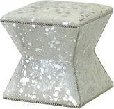 Massoud Furniture Althea Ottoman, Silver Spots