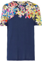 Jason Wu Floral-Print Stretch-Jersey T-Shirt