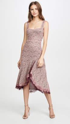 Jonathan Simkhai Lace Open Slit Bustier Dress