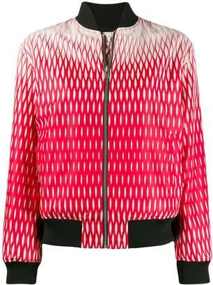 Kenzo geometric-print reversible bomber jacket