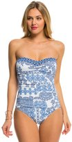 Tommy Bahama Stamped Medallion Bandeau Tie Back One Piece 8140871