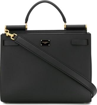 Dolce & Gabbana Logo-Plaque Tote Bag