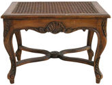 One Kings Lane Vintage French Cane Vanity Bench