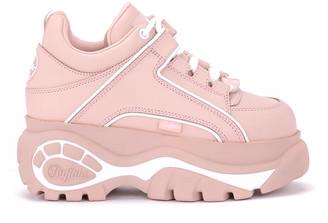 Buffalo David Bitton 1339 Pink Leather Sneakers