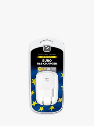 Go Travel USB to EU Travel Adaptor