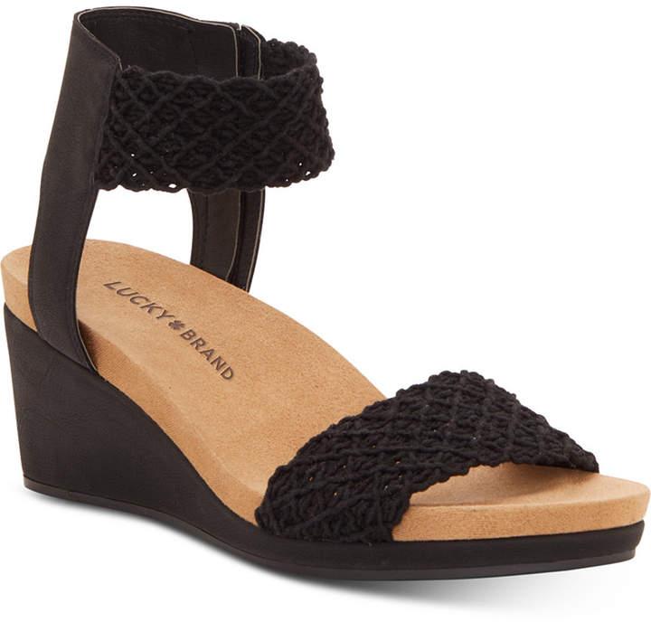 7f3441ef7a Lucky Brand Wedge Heel Women's Sandals - ShopStyle