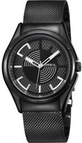 Breil Milano Men's Quartz Watch with Black Dial Analogue Display and Black Bracelet TW1062