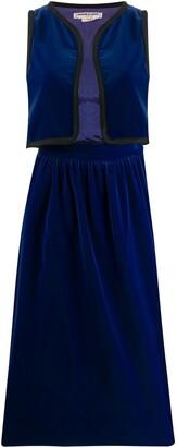 Yves Saint Laurent Pre Owned Straight Skirt And Vest Set