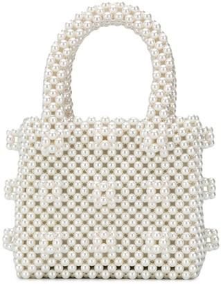 Shrimps Antonia faux-pearl tote bag