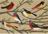 Liora Manné Front Porch Indoor/Outdoor Birds Multi 2'6'' x 4' Area Rug