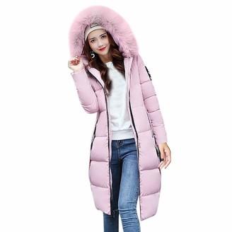 Jiegorge Woman Coat Women Solid Casual Thicker Winter Slim Down Lammy Jacket Coat Overcoat