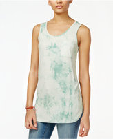 Say What ? Juniors' Sleeveless Tie-Dyed Tunic