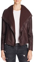T Tahari Andreas Leather & Knit Jacket