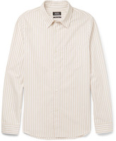 A.P.C. Striped Cotton-poplin Shirt - Neutral