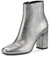 Saint Laurent Babies Metallic 90mm Ankle Boot, Gray
