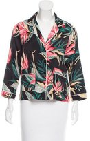 Rebecca Minkoff Floral Print Long Sleeve Blouse