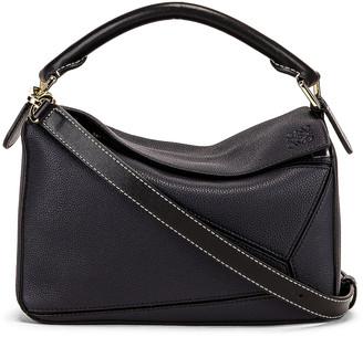 Loewe Puzzle Small Bag in Midnight Blue & Black | FWRD