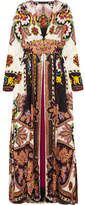 Etro Lace-trimmed Printed Jacquard Gown - Pink