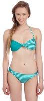 U.S. Polo Assn. Juniors Striped and Solid Twisted Bandeau Bikini