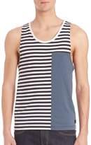 Madison Supply Men's Striped Colorblock Tank Top
