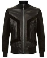 Philipp Plein Speachless Leather Bomber Jacket