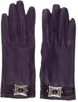 Hermes Medallion Leather Gloves
