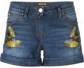 Roberto Cavalli embroidered bird shorts