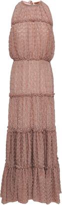 Missoni Tiered Metallic Boucle-knit Midi Dress
