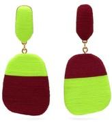 Maryjane Claverol - Rita Corded Clip Earrings - Womens - Yellow
