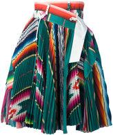 Sacai Mexican stripe pleated skirt