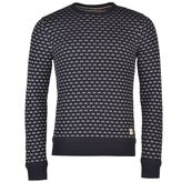 Soulcal Patterned Crew Knit Jumper Mens
