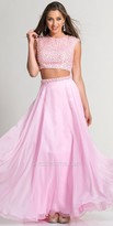 Dave and Johnny Pearl Two Piece Long Prom Dress