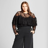 Who What Wear Women's Plus Size Layered Lace Top
