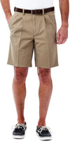 Haggar Cotton Twill Short - Classic Fit, Pleated Front, Expandable Waistband
