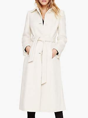 Damsel in a Dress Leora Belted Coat, Winter White