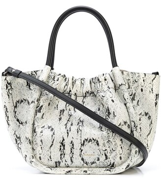 Proenza Schouler Small Snake-Effect Ruched Tote Bag