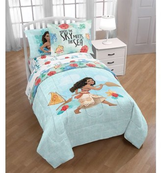 Moana Blue Tropical Bed in a Bag Kids Bedding Set w/ Reversible Comforter