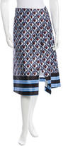 Suno Printed A-Line Skirt