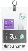 Simplehuman Code U Bin Liners - Pack of 60