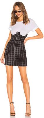h:ours Lillian High Waisted Mini Skirt