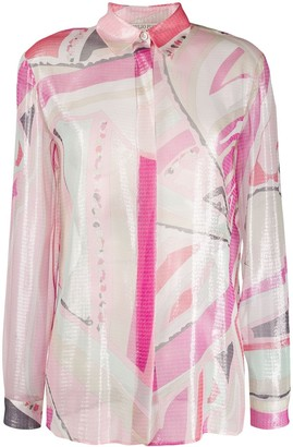 Emilio Pucci Long-Sleeve Printed Shirt