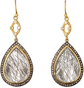 Sara Weinstock Women's Quartz & Grey Diamond Double-Drop Earrings