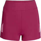 Capezio Maroon Mesh-Insert Shorts - Girls