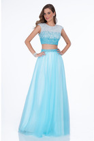 Terani Couture 1611P1352A Two-Piece Ombre A-Line Gown