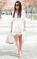 Ily Couture White Linen Trench
