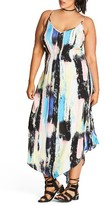 City Chic Plus Size Women's Soft Smudge Print Maxi Dress