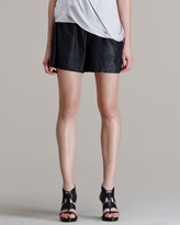 Helmut Lang HELMUT Washed Leather Shorts