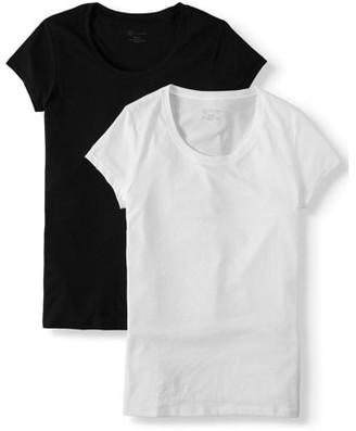 No Boundaries Juniors' Everyday Short Sleeve T-Shirt 2 Pack