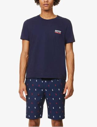 Polo Ralph Lauren Logo-print cotton-blend jersey shorts